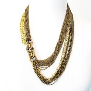 J. Crew Multi Chain Necklace